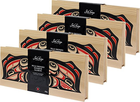 4 x SeaChange Seafoods Smoked Sockeye Salmon 454gr/16 oz {Imported from Canada}