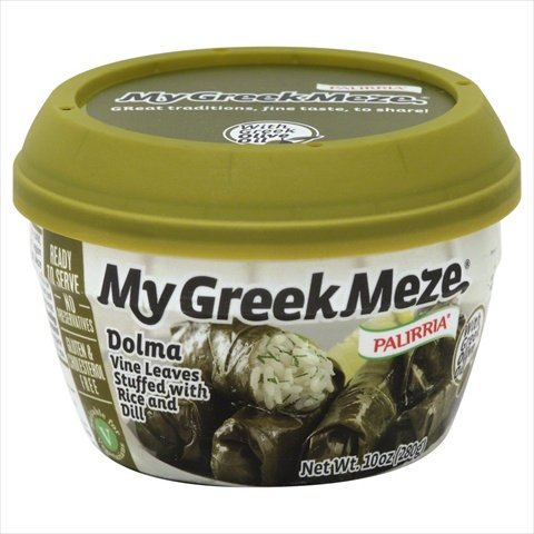 Palirria My Greek Meze Rice and Dill Stuffed Vine Leaves, 10 Ounce (Pack of 12)