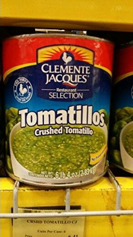 Clemente Jacques Crushed Tomatillos 100 Oz (2 Pack)