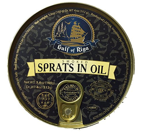 Gulf of Riga Smoked Sprats in Oil (6 Pack)
