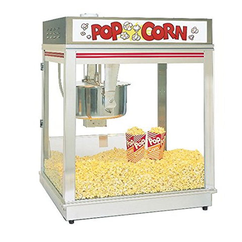 Gold Medal Pop-O-Gold Popcorn Machine, Counter Model, 20 Oz. Kettle #2010E