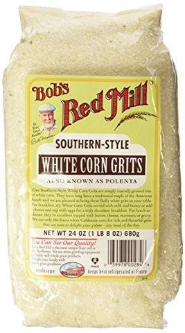 Bob's Red Mill Southern Style White Corn Grits 24 oz (680 grams) Pkg