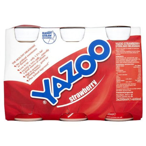 Yazoo Milk Shaken Up with Strawberry 3 x 200ml