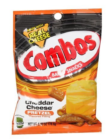 Combos Baked Snacks with Cheddar Cheese 6.3 oz, 2 Pack