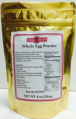 Magic Flavors Whole Egg Powder, 8 Oz x 6 Pouches