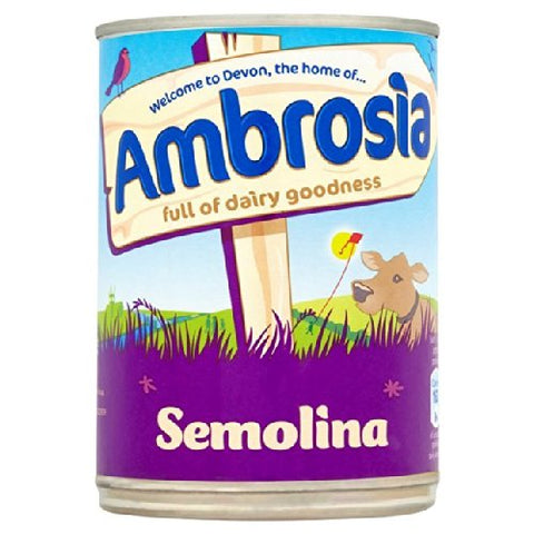 Ambrosia Creamed Semolina Pudding - 400g - Pack of 2 (400g x 2 Tins)