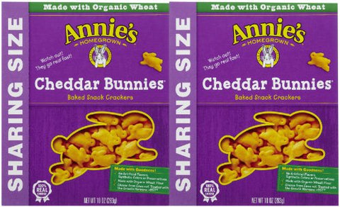 Annie's Homegrown Bunny Crackers - Cheddar - 10 oz - 2 pk
