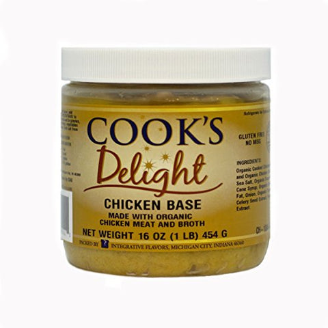 Chicken Soup Base made with Organic Chicken Meat and Broth by Cook's Delight 1 Lb of soup base makes 5 1/2 gal of soup stock