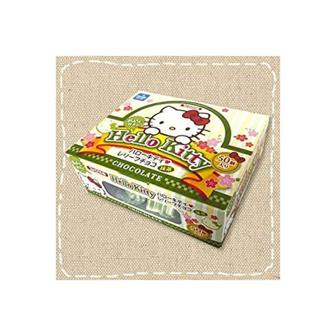 Sanrio Hello Kitty relief chocolate Matcha Green tea 50p Japan w/Akibaking sticker