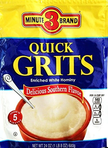 3 Minute Brand Quick Grits 24oz Bag (Pack of 3)