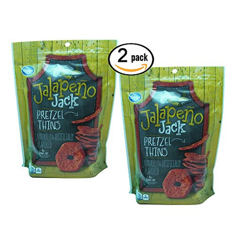 2 Pack Jalapeno Jack Pretzel Thins 7.2oz each Spicy Snack Chip