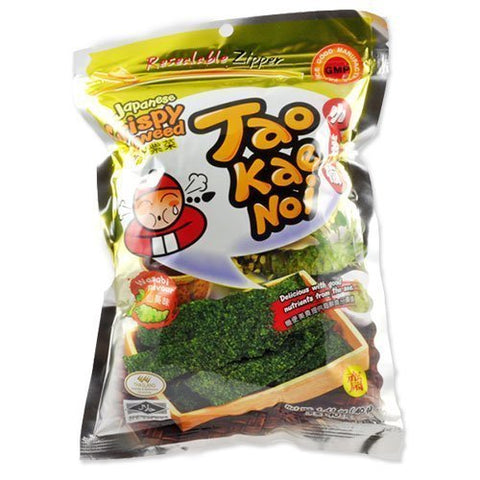 24 Packs of Tao Kae Noi Seaweed Wasabi Flavoured Low Price and Free Shipping 40G