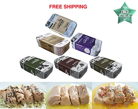 Variety of Tuna Fillet in olive oil 6 tins x 120 g, Santa Catarina / Portugal