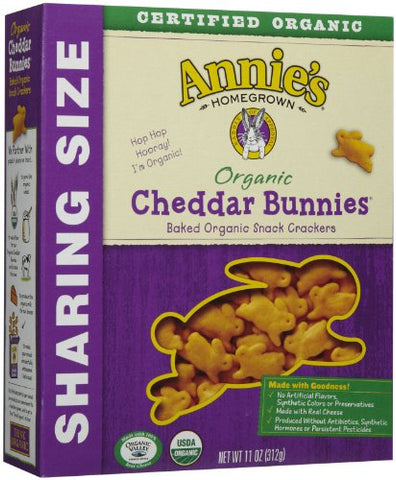 Annie's Homegrown Family Size Organic Cheddar Bunnies - 11 oz