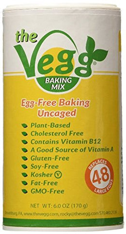 The Vegg Vegan Egg Replacer Baking Mix 6 Oz (12 Pack)