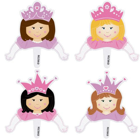 Wilton W1106 Pops Fun Plastic Pix - 8 Package Princess