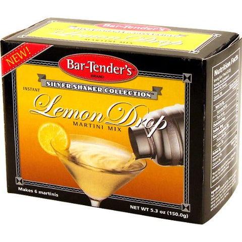 Lemon Drop Bar-Tenders Instant Cocktail Mix: Box - 6 Pouches