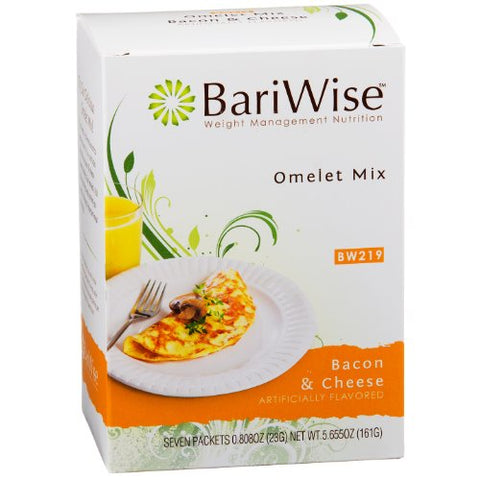 BariWise Bacon Cheese Omelet Mix (7 Servings/Box)
