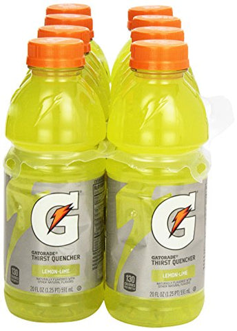Gatorade Gatorade - Lemon Lime - 20 oz - 8 ct
