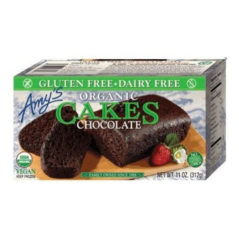 Amys Organic Gluten Free Chocolate Cake, 11 Ounce -- 12 per case.