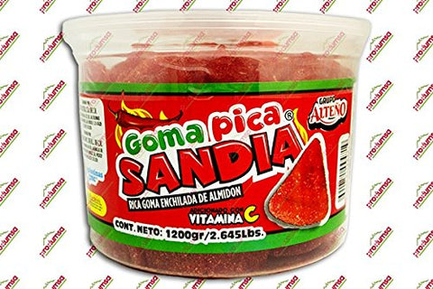 2 x Grupo Alteño GOMITAS SANDIA PICANTES - Mix Jelly Beans Watermelon Hot Candy 1.2 kg Made in Mexico