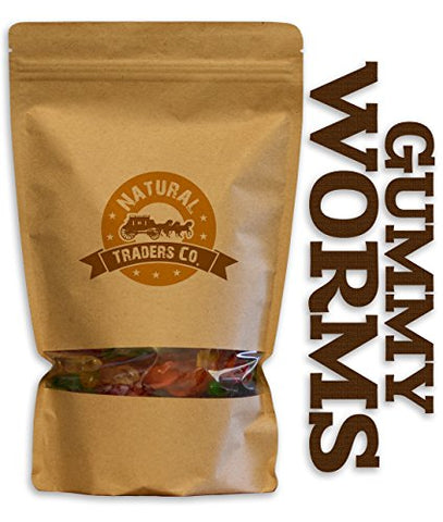 Natural Traders Natural Gummy Worms - 1lb Bag - Gluten Free