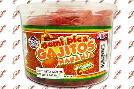 2 x Grupo Alteño Gomitas Gajitos Naranja - Mix Jelly Beans Oranje Hot Candy 1.5 KG Made in Mexico