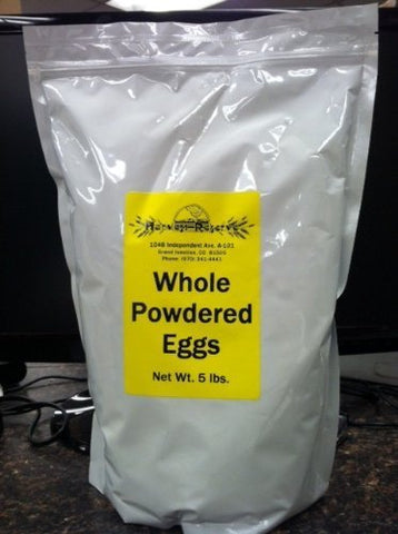 Whole Powdered Eggs - 5# Mylar Zip Bag (180 eggs)