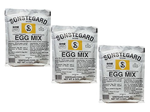 Pack of 3 Sonstegard Powdered Egg Mix, 6 Oz Each