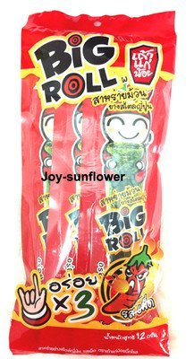 10 PACKS TAOKAENOI TAO KAE NOI GRILLED JAPANESE SEAWEED BIG ROLL SPICY FLAVOR From Thailand