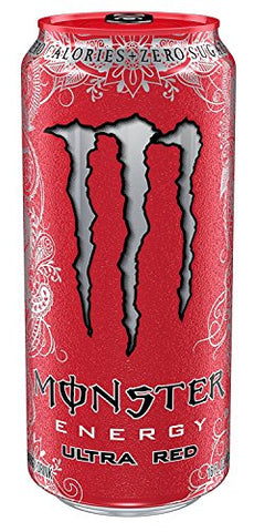 8 Pack - Monster Energy - Ultra Red - 16oz.