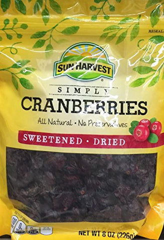 8oz Sun Harvest Dried Cranberries (Pack of 1)