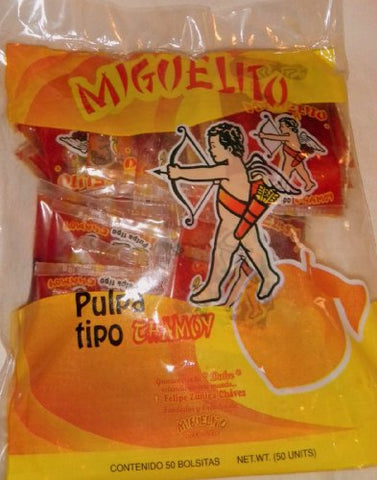 2 X Miguelito Pulpa Tipo Chamoy Liquido - Pulp Liquid Mexican Candy 100 Pcs Sealed