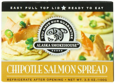 Alaska Smokehouse Chipotle Salmon Spread Serving  Design, 3.5 Ounce Boxes (Pack of 6)