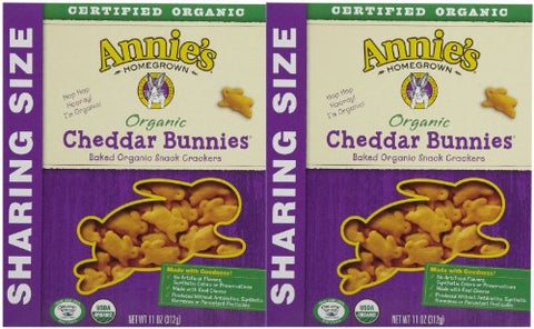 Annie's Homegrown Family Size Organic Cheddar Bunnies - 11 oz - 2 pk