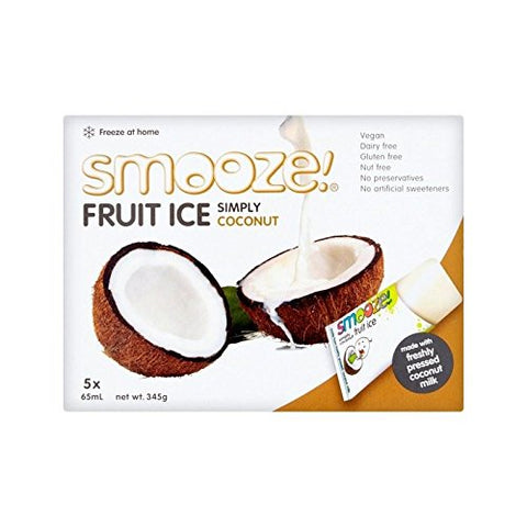 Smooze Simply Coconut Fruit Ice Lollies 5 x 65ml - Pack of 4