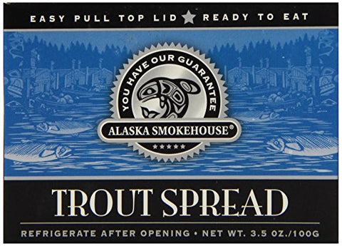 Alaska Smokehouse Trout Spread Totem Design, 3.5 Ounce Boxes (Pack of 6)