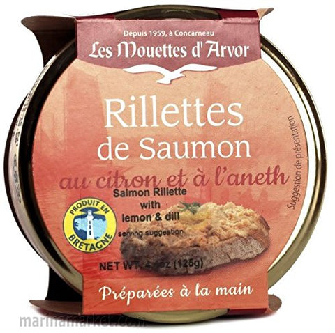 Salmon Rillettes with Lemon and Dill - Kit of 2 x 4.4 Oz