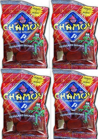 4 X Chamoy Chabacano Salado En Jugo Salted Apricot in Juice 4 Pcs Sealed