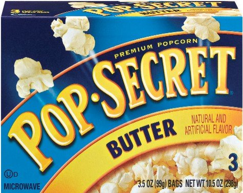 POP SECRET POPCORN PREMIUM BUTTER 3 CT