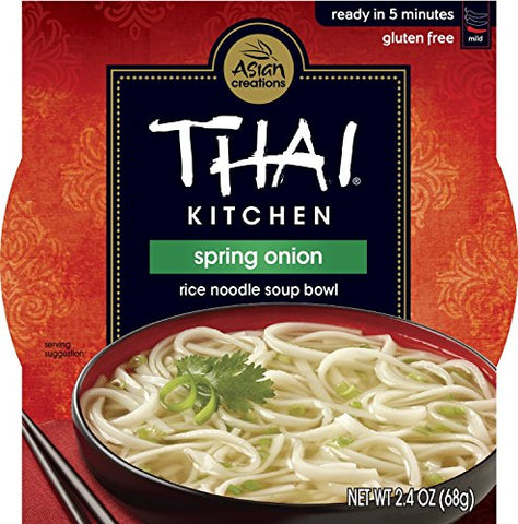 THAI KITCHEN | Gluten Free -Noodle Bowl-Spring Onion 2.4 Oz [1Pack]
