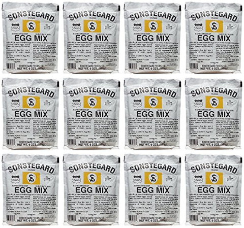 12 Pack Powdered Eggs Dried Egg Mix for Scrambled Eggs, Baking, Camping 6 oz by Sonstegard