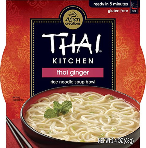 THAI KITCHEN | Gluten Free -Noodle Bowl-Thai Ginger 2.4 Oz [1Pack]