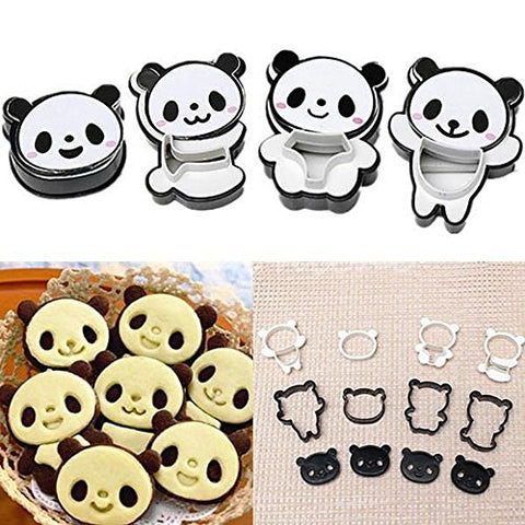 4pcs Cartoon Panda Biscuit Cake Cookies Cutter Candy Kitchen DIY Decorating Mold