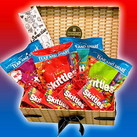 Skittles Ultimate Skittle's Selection Treasure Box - By Moreton Gifts - Crazy Sours, Confused, Wild Berry And Fruits