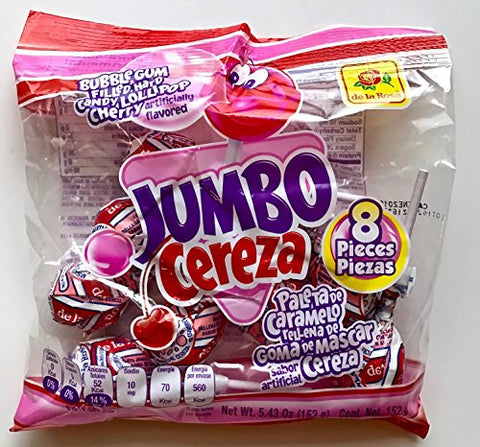 DE LA ROSA JUMBO CHERRY LOLLIPOP