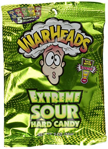3 PACK Warheads Extreme Sour Hard Candy Assorted Flavors