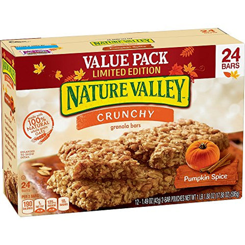Nature Valley Crunchy Pumpkin Spice Granola Bars 24 Count