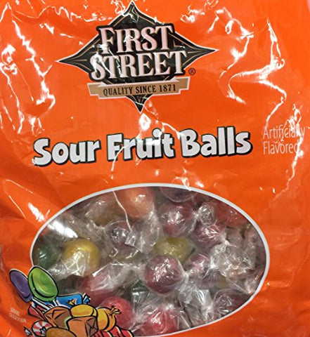 32z First Street Sour Fruit Balls Candy (Pack of 1)