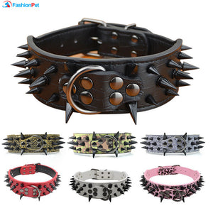 spiked and studded dog collar bad ass dog collar